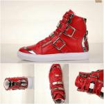 cuir philipp plein femmes hommes collections high-top red